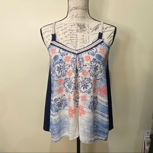 NWT Jolt Boho Summer Shirt Embroidered Trim Sz XS